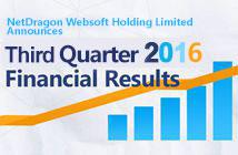 NetDragon Announces 2016 Third Quarter Financial Results